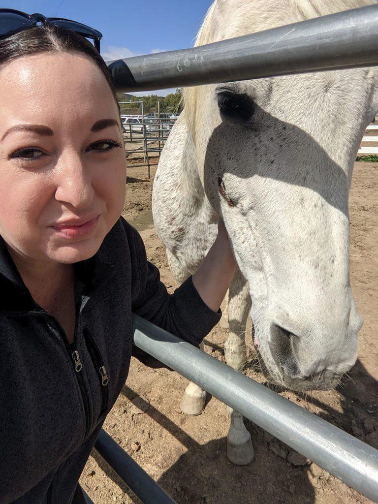 Lindsay with Horse at EQUU8 Murrieta